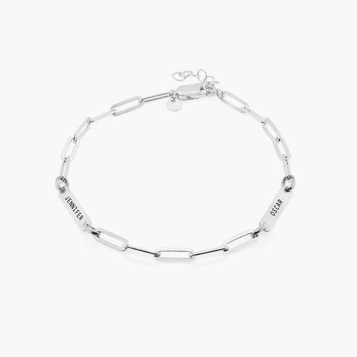 Ivy Name Paperclip Chain Anklet - Sterling Silver product photo