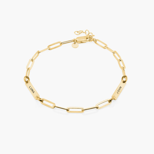 Ivy Name Paperclip Chain Anklet - Gold Vermeil product photo
