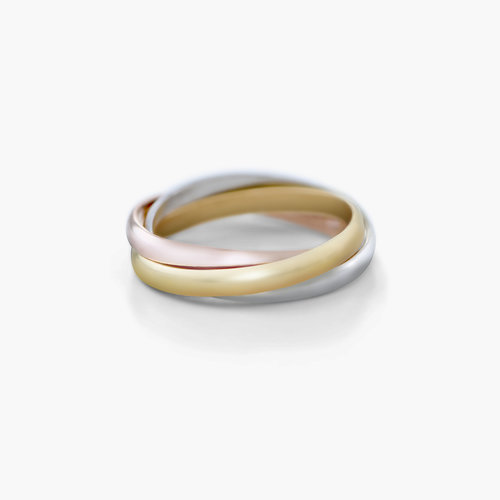 Tri-Color Ring- Mixed Gold Plating product photo