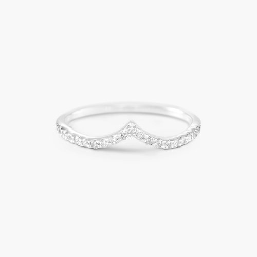 Serenity Wishbone Ring - Silver product photo