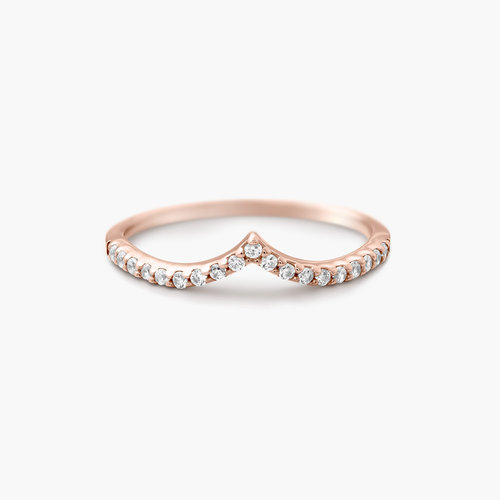 Serenity Wishbone Ring - Rose Gold Plated product photo