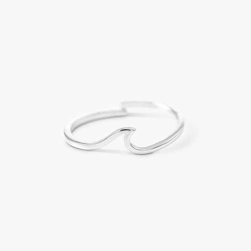 Wave Ring - Silver product photo
