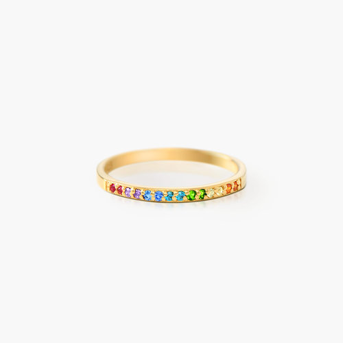 Rainbow Ring - Gold Plated product photo