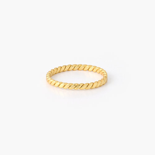 Braided Stackable Ring Band - Gold Plated product photo
