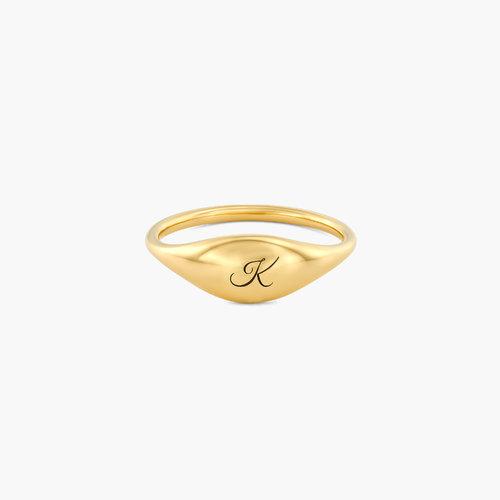 Kara Custom Name Ring - Gold Plated product photo