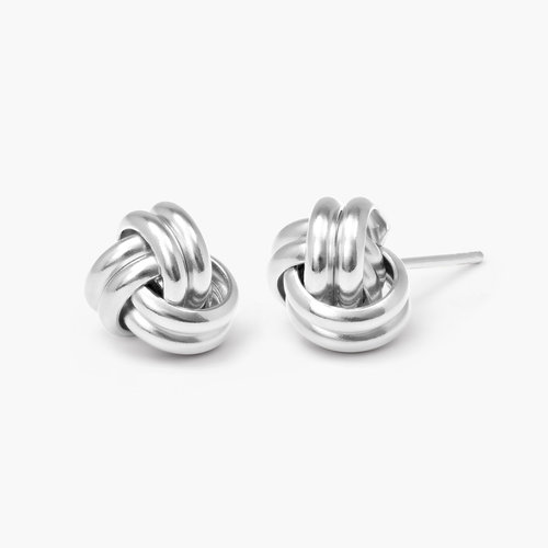 Forget Me Knot Earrings - Silver product photo