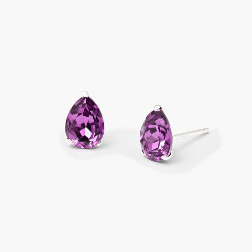 Glimmer Teardrop Earrings - Violet product photo