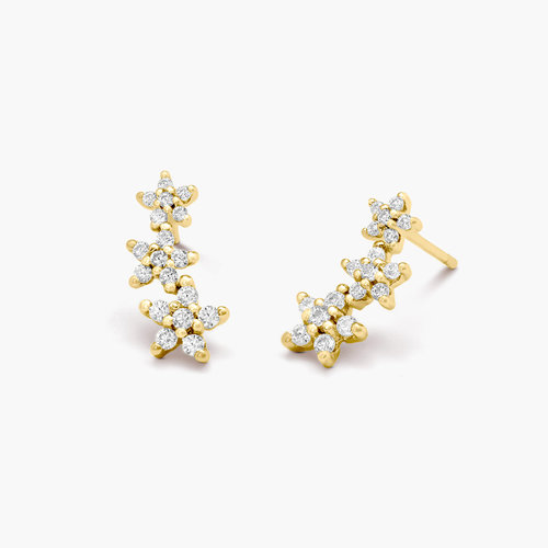 Constellation Ear Climbers - Gold Plated product photo