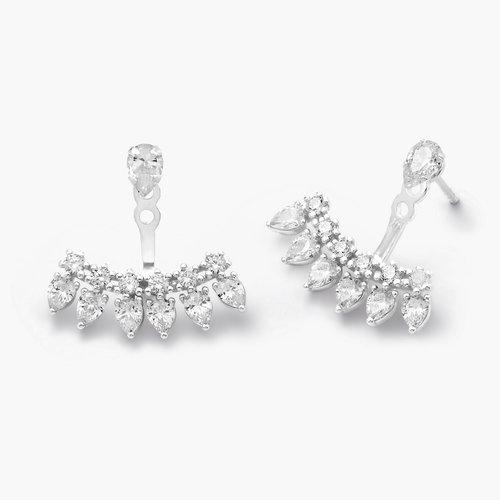 Gleam Ear Jacket Earrings - Silver product photo