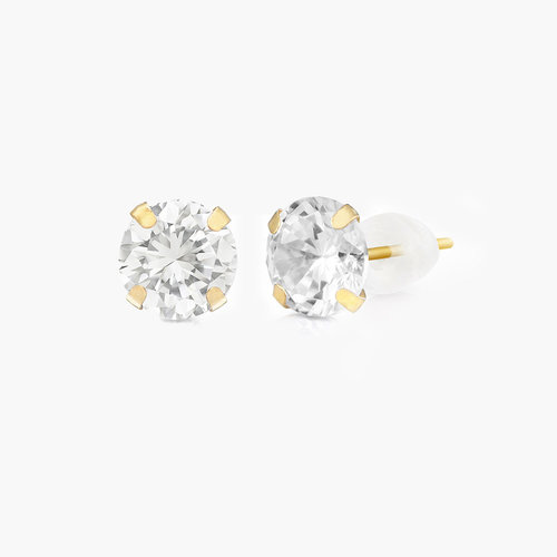 Sparkle Gold Stud Earrings - 10K Gold product photo
