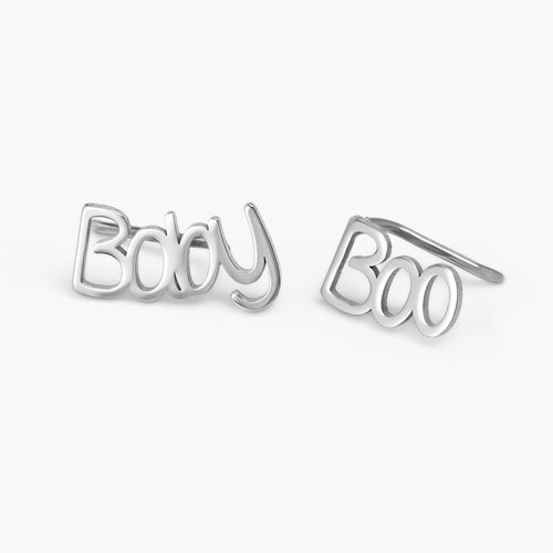 Pixie Name Earrings - Silver product photo