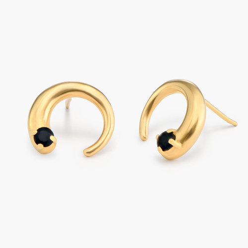 Moonlight Crescent Earrings - Gold Plated product photo