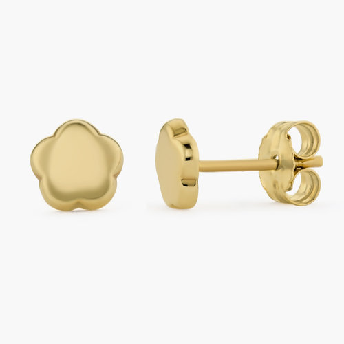 Gold Flower Earrings Studs - 10K Gold product photo