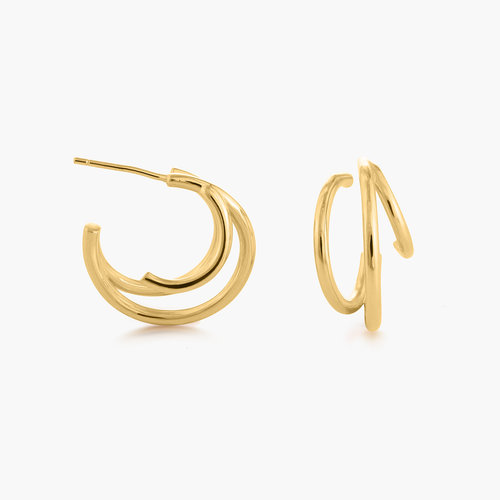 Tango Triple Hoop Earrings - Gold Plated product photo