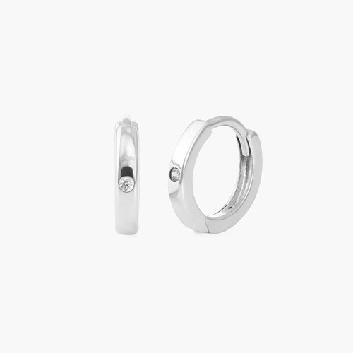 Huggie Hoops - Sterling Silver product photo