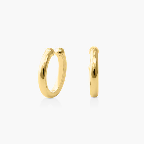 Ear Cuff Cartilage Hoop Earrings - Gold Plated product photo