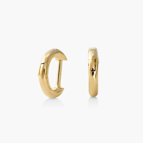 Mini Huggies Hoop Earrings - Gold Plated product photo