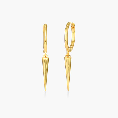 Spike Hoop Earrings - Gold Plated product photo
