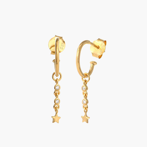 Star Hoop Earrings - Gold Plated product photo
