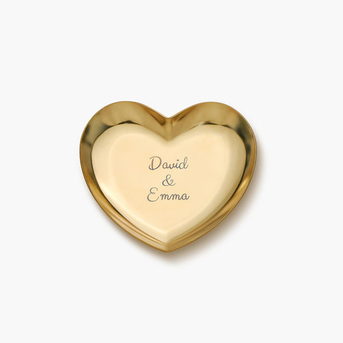 Heart Jewelry Dish - Gold Plated product photo