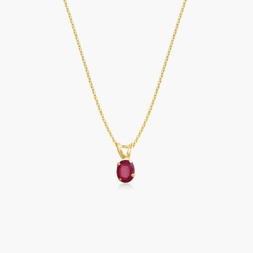 Ruby Pendant Necklace - 14K Gold product photo