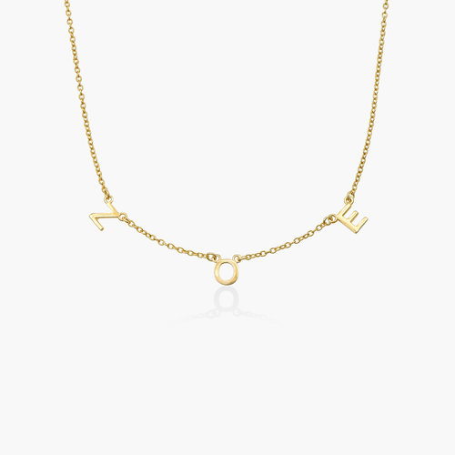 Inez Initial Necklace - 14k Gold product photo