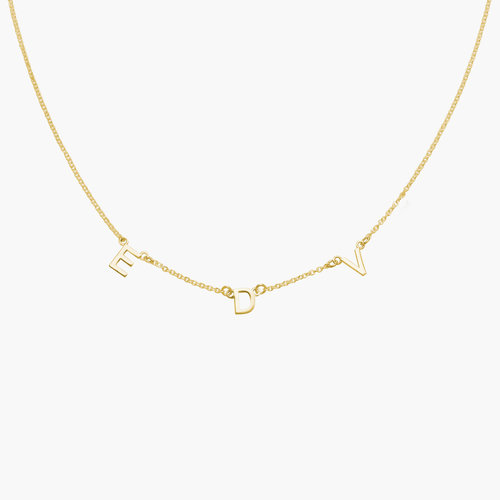 Inez Initial Necklace - Gold Plated product photo