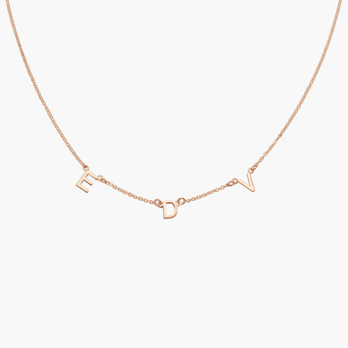 Inez Initial Necklace - Rose Gold Plated product photo