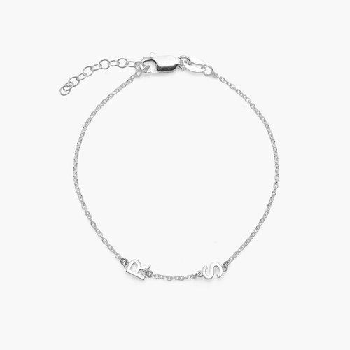Inez Initial Bracelet - Silver product photo