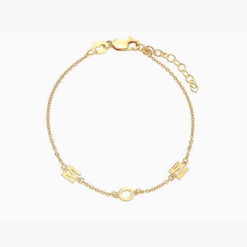 Inez Initial Bracelet - Gold Plated product photo