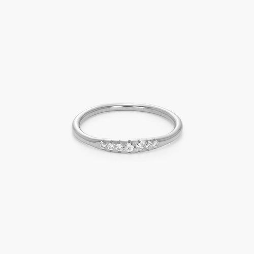 Darleen Diamond Ring - Silver product photo