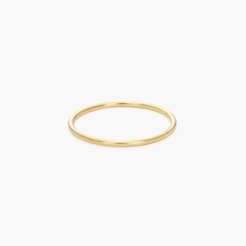 Smooth Hailey Stackable Ring - 14K Solid Gold product photo