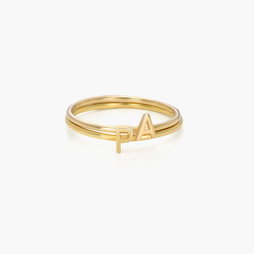 Stackable Inez Initial Ring - Gold Plated product photo