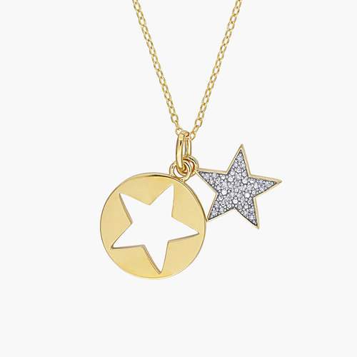 Mystic Diamond Star Necklace - Gold Plating product photo