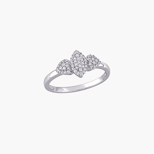 Charlotte Diamond Marquise Ring - Sterling Silver product photo