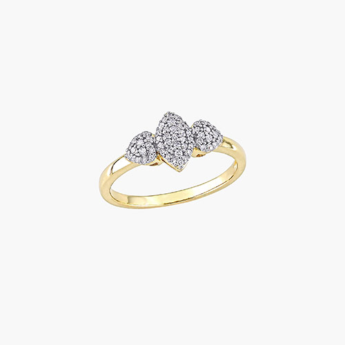 Charlotte Diamond Marquise Ring - Gold Plating product photo
