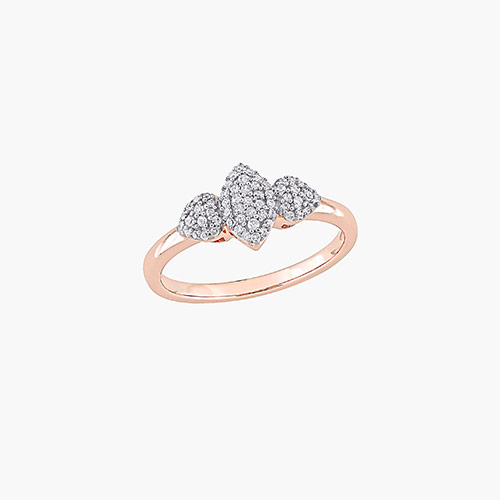 Charlotte Diamond Marquise Ring - Rose Gold Plating product photo