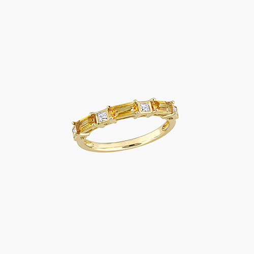 Amour Baguette Ring - 10K Yellow Gold product photo