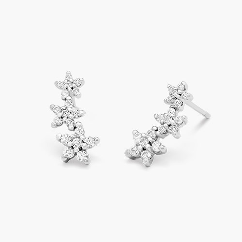 Constellation Ear Climbers, Silver