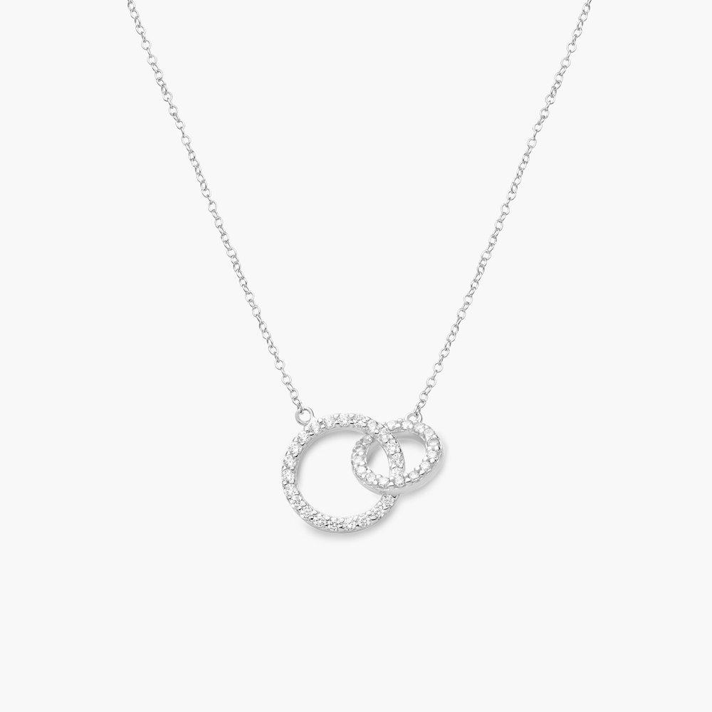 Double Eclipse Necklace, Silver