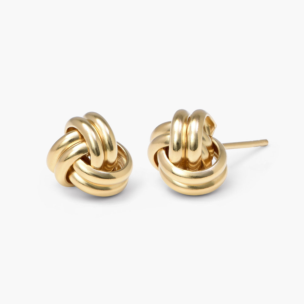 Forget Me Knot Earrings, Gold Plated