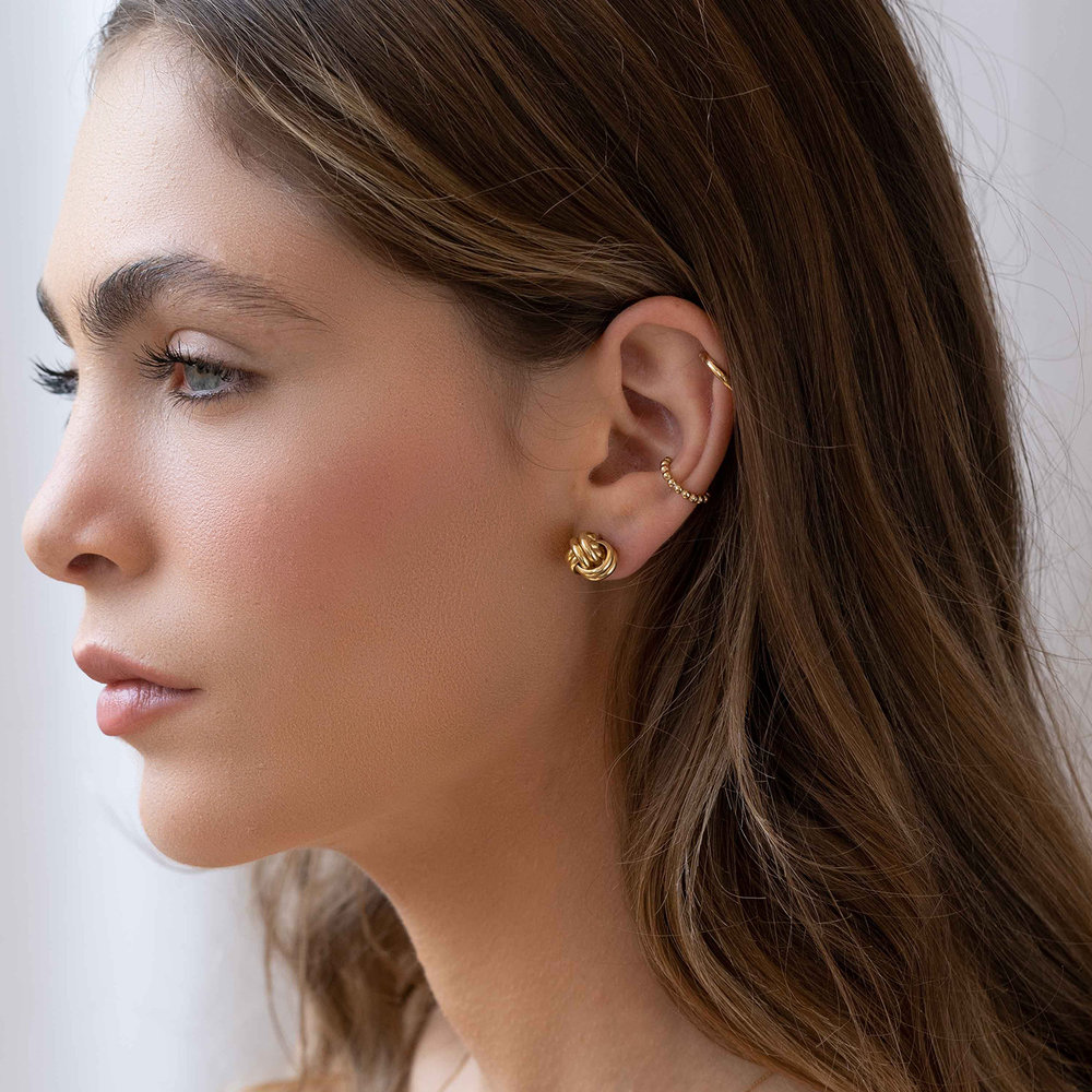 Forget Me Knot Earrings, Gold Plated - 2