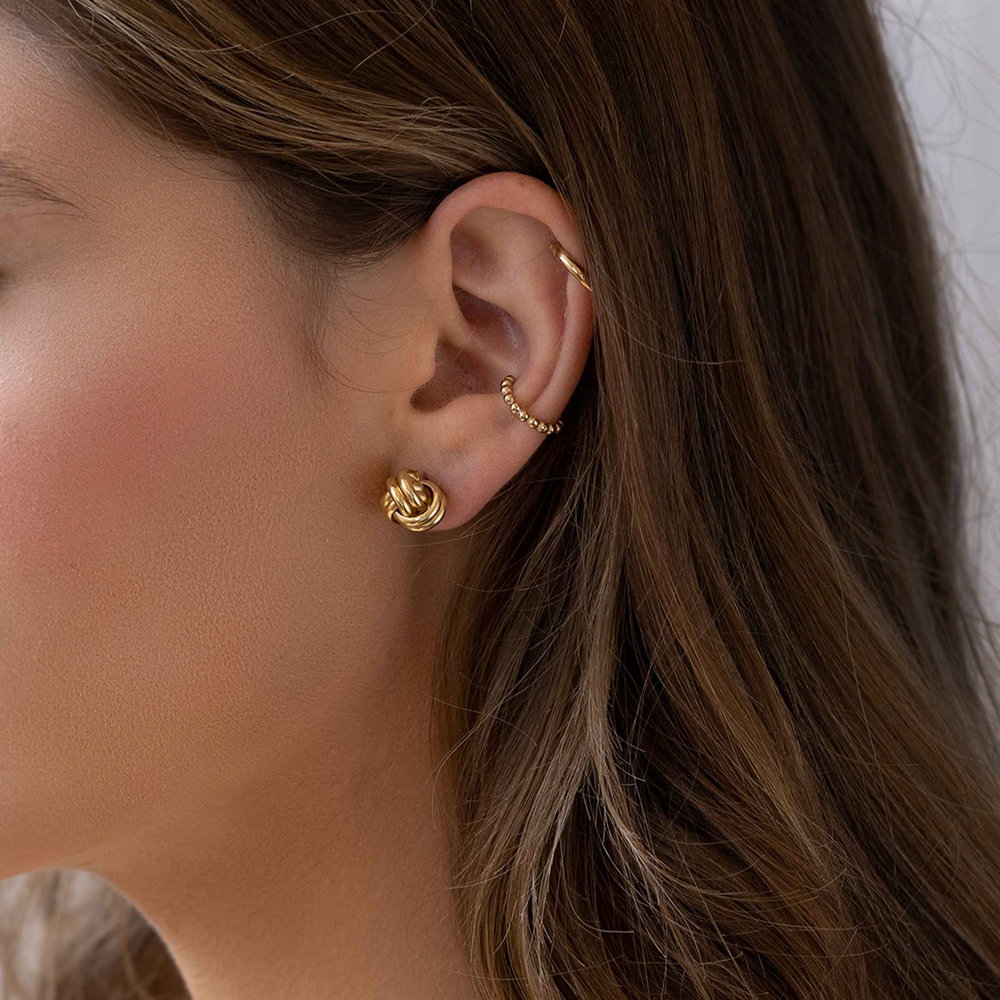 Forget Me Knot Earrings, Gold Plated - 3