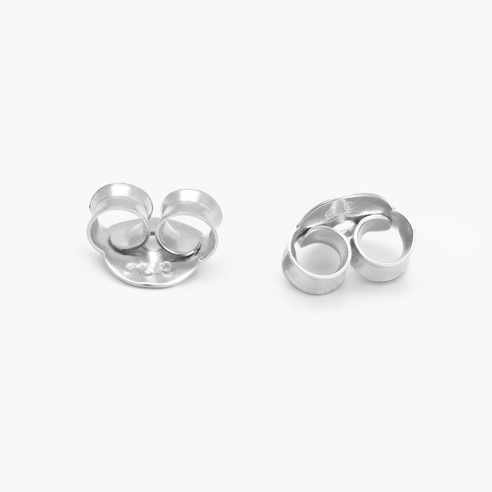 Forget Me Knot Earrings, Silver - 1