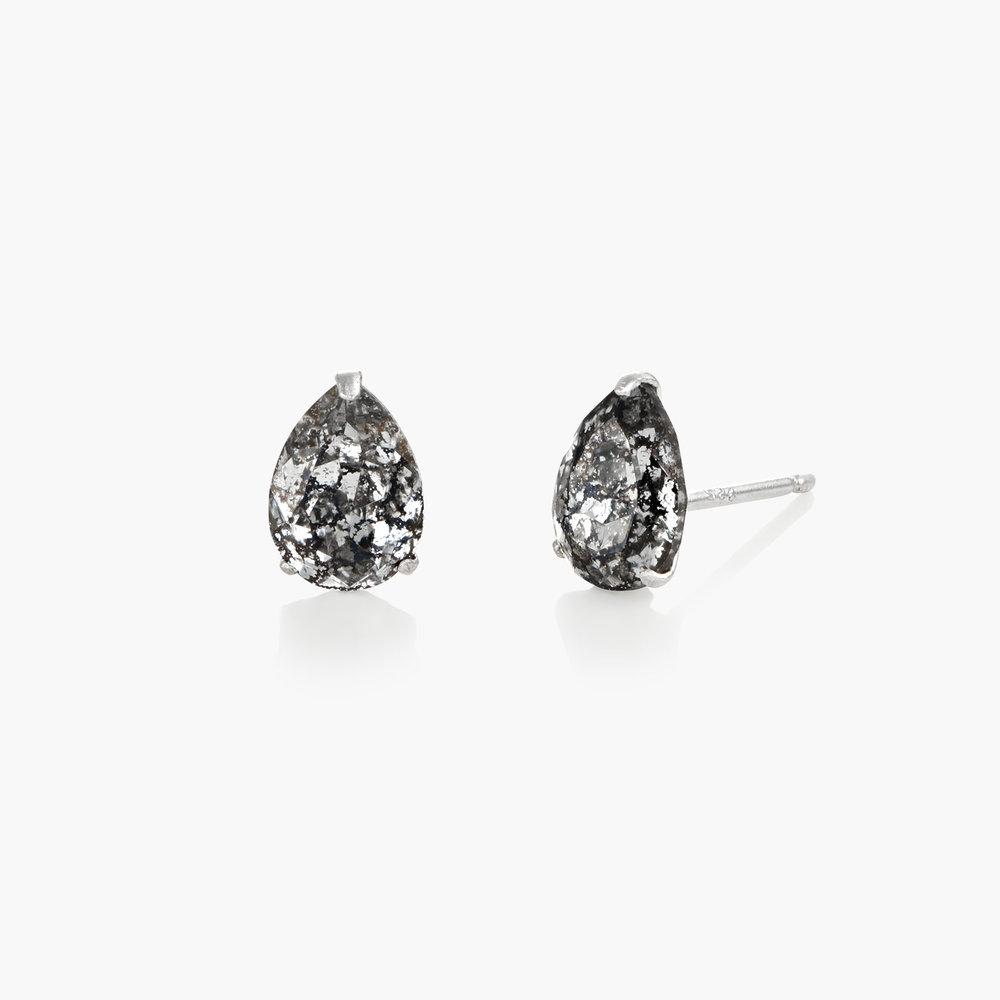 Glimmer Teardrop Earrings, Crystal Clear