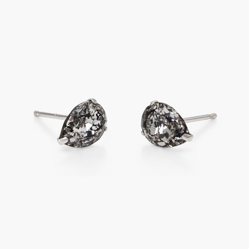 Glimmer Teardrop Earrings, Crystal Clear - 1