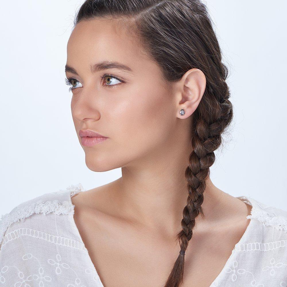 Glimmer Teardrop Earrings, Crystal Clear - 2