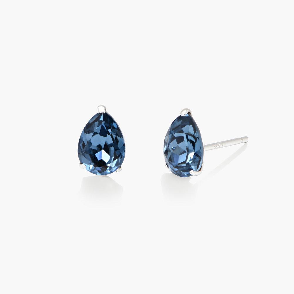 Glimmer Teardrop Earrings, Denim