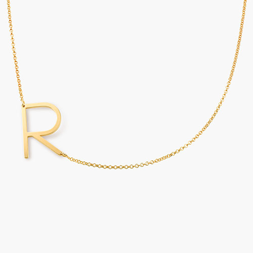 Initial Necklace - Gold Plated