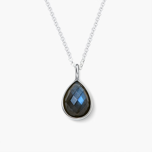 Labradorite Necklace, Silver